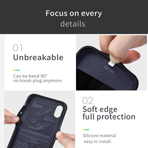 iPhone X Battery Case 3,500 mAh details of materials, and benefits.