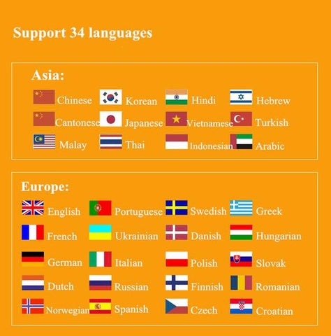 Supports more than 30+ languages to translate