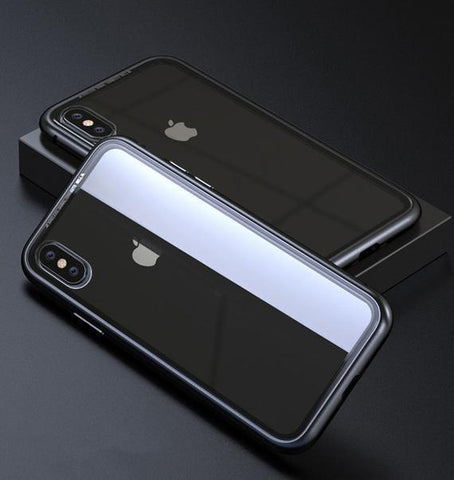Black Clear Ultra Slim Magnetic Anti-Shock Case