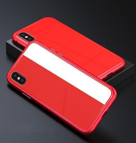 Full red Ultra Slim Magnetic Anti-Shock Case