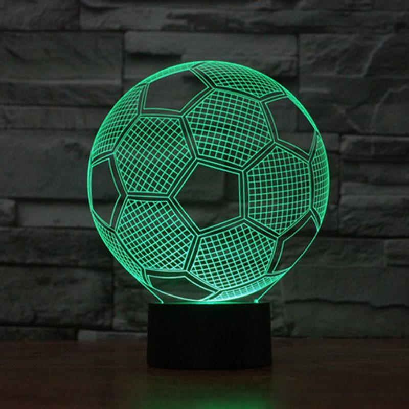 "3D  ""Soccer"" illusion lamp"