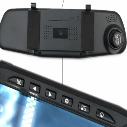 1080p Rear View Mirror Dash Camera Black color