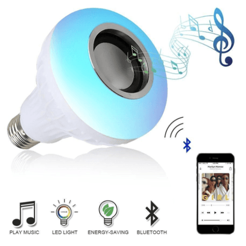 Image of for best price on Wireless Bluetooth Led Bulb Speaker visit smartcooldeals.com