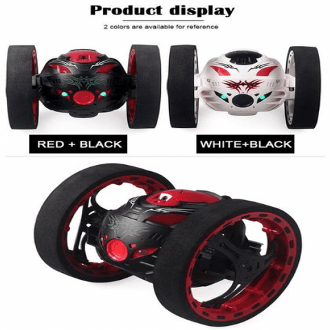 Black or white bounce car