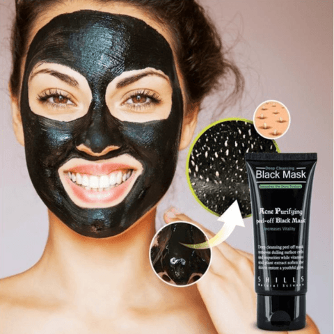 This Purifying Peel-Off Mask is a carbon black full-face mask deeply penetrates the skin to safely remove acne on forehead, nose, chin, blackheads and fine facial hair. Our super-active carbonated mask absorbs dirt and grime while regulating oil secretion, allowing deep cleansing; leaving you a fresh, clog-free skin with an ultra-soft touch and reduces chances of acne!