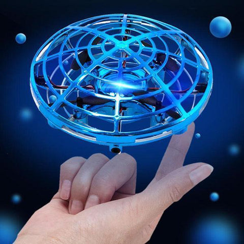 Blue Mini Drone Quad Induction Levitation UFO | smartcooldeals.com