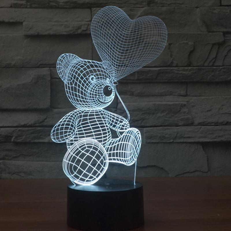 "Best deal on 3D ILLUSION LAMP ""BEAR WITH BALLOON"" smartcooldeals"