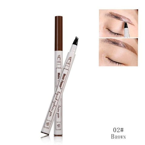 Image of The unique 4-tip applicator allows creating a more hair-like natural brow look. You can get elegant eyebrows with the selection of shades that matches your hair color.