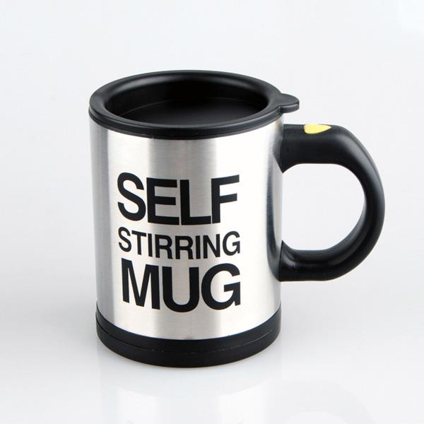 Black Self Stirring Coffee Mug