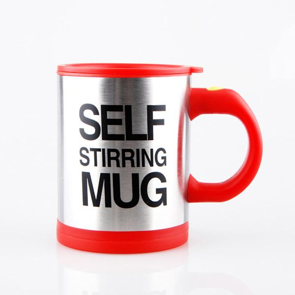 Red Self Stirring Coffee Mug