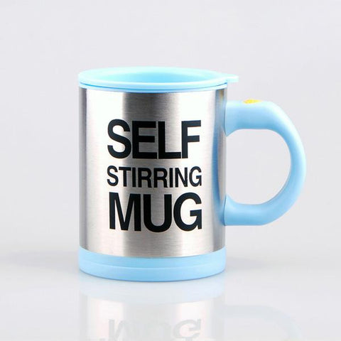 Light Blue Self Stirring Coffee Mug