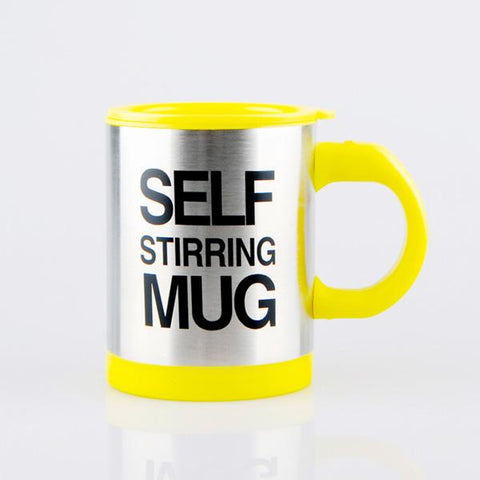 Image of Yellow Self Stirring Coffee Mug