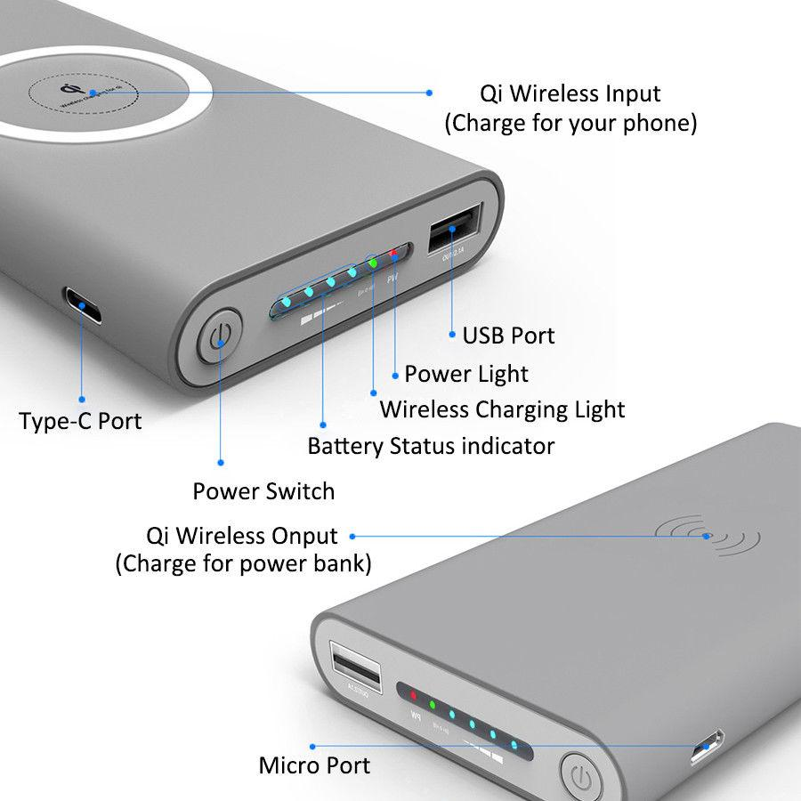 Detail explanation of each function on our 10,000mAh wireless power bank | smart cool deals