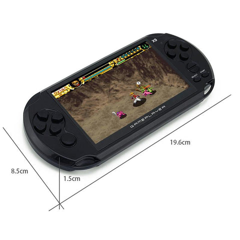 "This 5.0"" game console brings more than 500 games included ready to play."