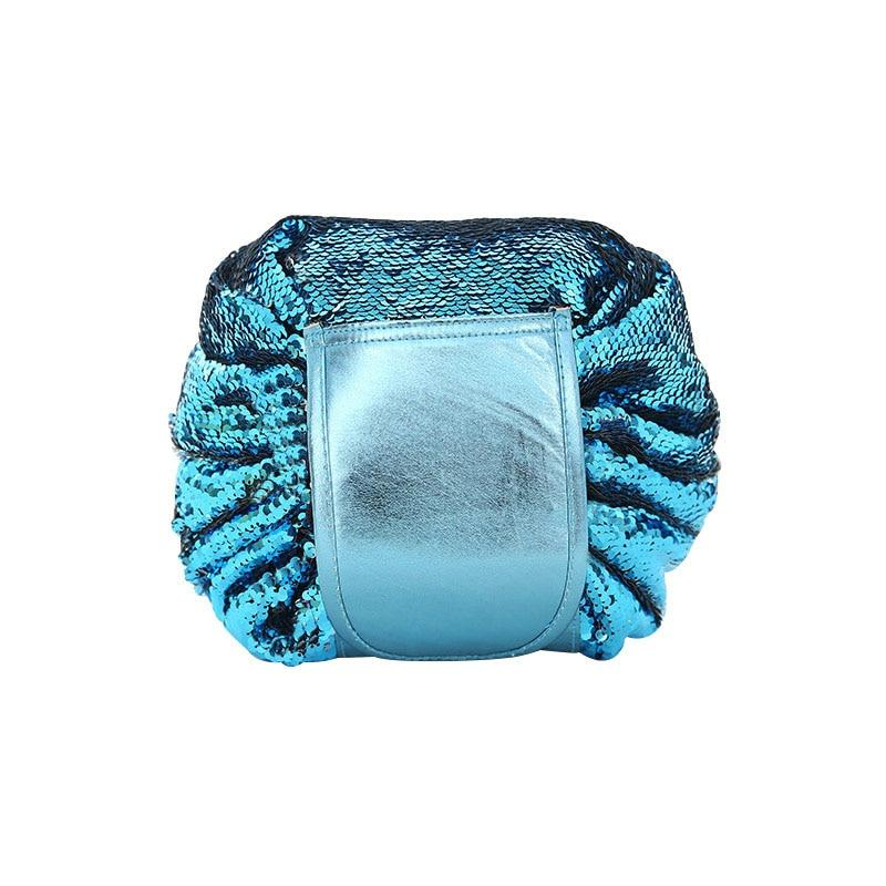 Blue Mermaid Sequin Cosmetic Bag | smartcooldeals.com