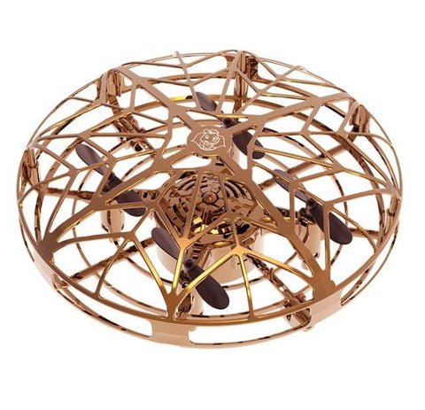 Gold Mini Drone Quad Induction Levitation UFO | smartcooldeals.com