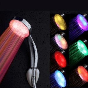 The Rainbow Shower Head has built-in LEDs. Once you turn on the shower, the turbine inside starts rotating (hydro-powered) because of the flowing water, and generates constant power for the LEDs to ingeniously light up, making it appear to glow!