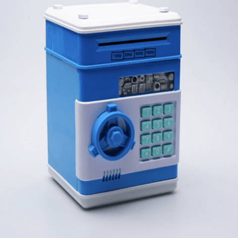 Blue Mini ATM money bank machine