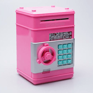 Pink Mini ATM money bank machine