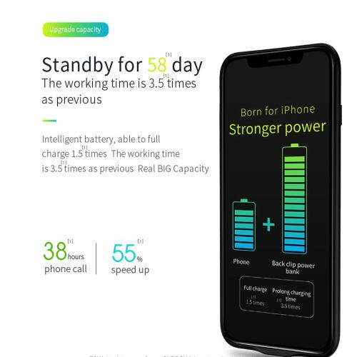 iPhone X Battery Case 3,500 mAh stronger charging power than most power banks