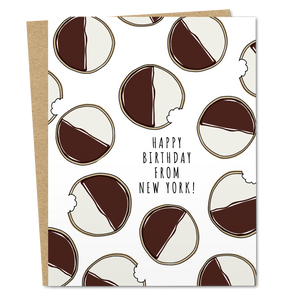 Black and White Cookie Birthday - The Good Snail
