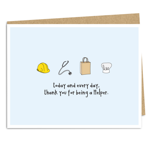 Thank You For Being A Helper - The Good Snail