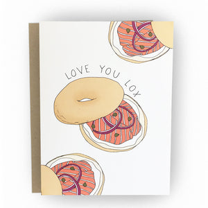 Love You Lox Card - The Good Snail