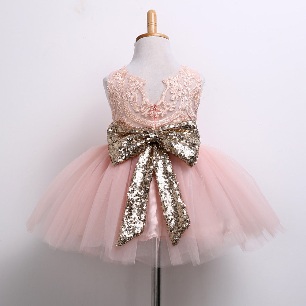 Sequined Bow Party Dress