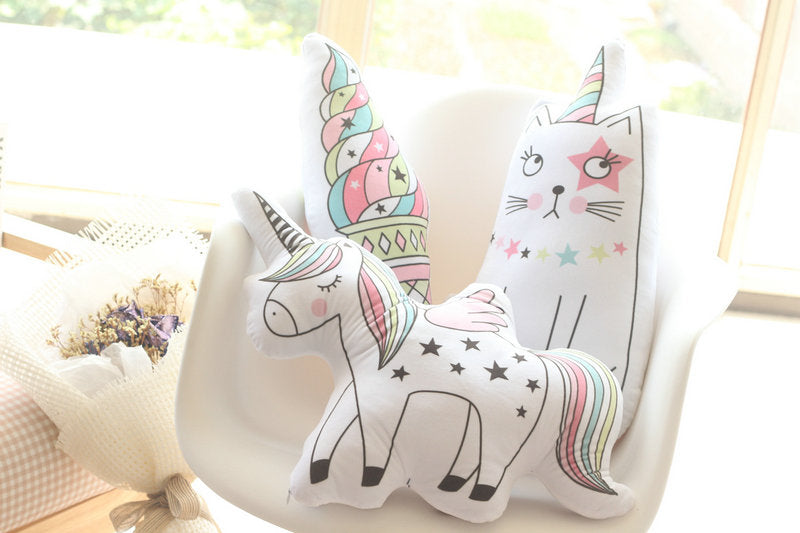 Rainbow Unicorn Plush Pillow