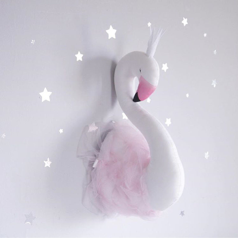 Stuffed Swan Wall Decoration (52x19cm)