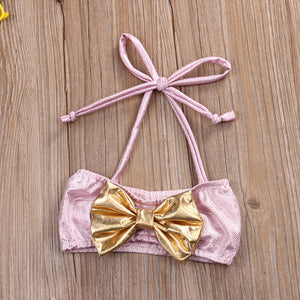 Pink & Gold Swimsuit