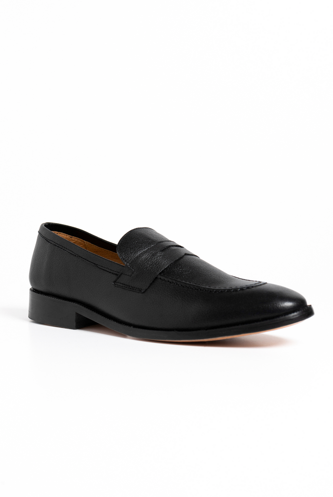 Maine Ash Penny Loafer Negro