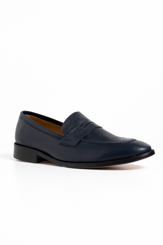 Maine Midnight Penny Loafer Navy Azul Marino
