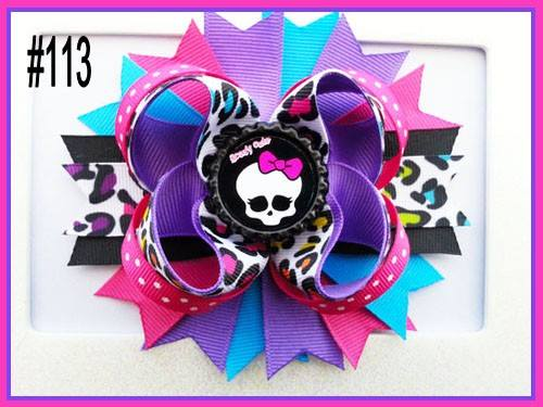 CHARACTER BOTTLE CAP HAIR BOWS - #113 - Sequins 'n Seashells Boutique