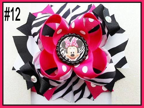 CHARACTER BOTTLE CAP HAIR BOWS - #12 - Sequins 'n Seashells Boutique