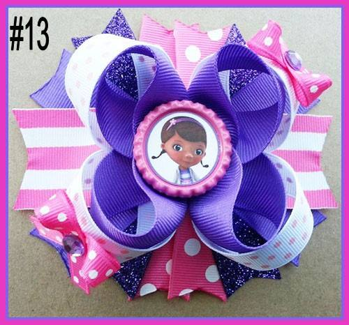 CHARACTER BOTTLE CAP HAIR BOWS - #13 - Sequins 'n Seashells Boutique