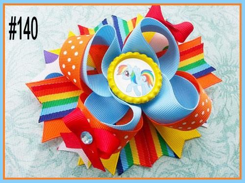 CHARACTER BOTTLE CAP HAIR BOWS - #140 - Sequins 'n Seashells Boutique