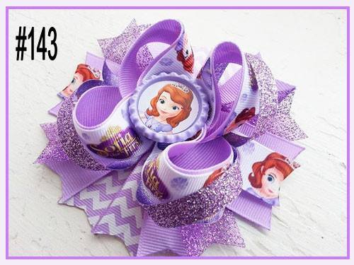 CHARACTER BOTTLE CAP HAIR BOWS - #143 - Sequins 'n Seashells Boutique