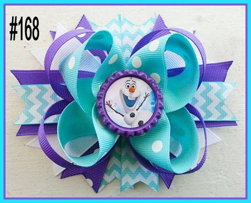 CHARACTER BOTTLE CAP HAIR BOWS - #168 - Sequins 'n Seashells Boutique