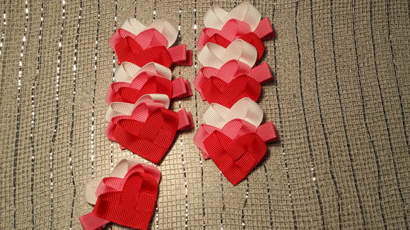 RIBBON SCULPTURES - HEARTS #2 - Sequins 'n Seashells Boutique