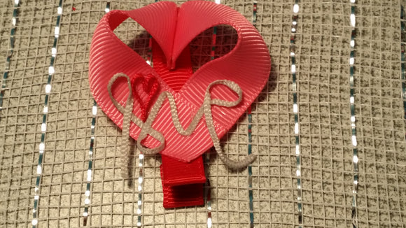 RIBBON SCULPTURES - HEARTS #4 - Sequins 'n Seashells Boutique