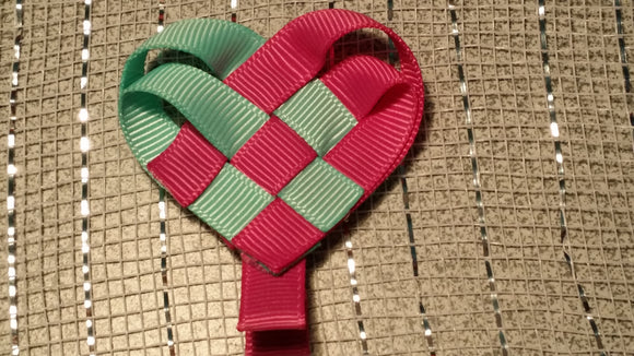 RIBBON SCULPTURES - HEARTS #5 - Sequins 'n Seashells Boutique