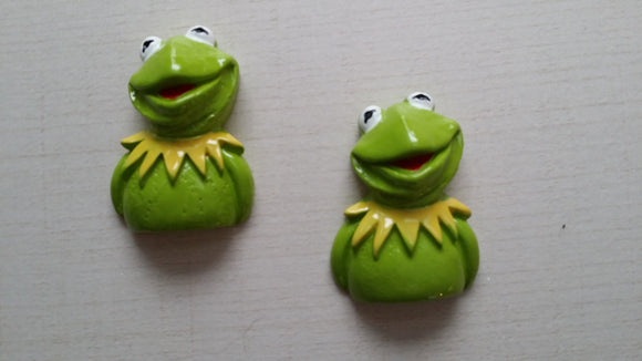 FLAT BACK RESINS - MUPPETS - KERMIT THE FROG - Sequins 'n Seashells Boutique