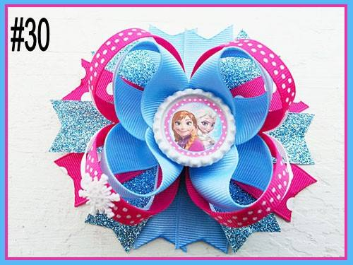 CHARACTER BOTTLE CAP HAIR BOWS - #30 - Sequins 'n Seashells Boutique