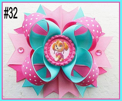 CHARACTER BOTTLE CAP HAIR BOWS - #32 - Sequins 'n Seashells Boutique
