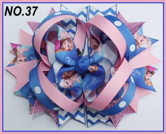 CHARACTER HAIR BOWS - FROZEN #37 - Sequins 'n Seashells Boutique