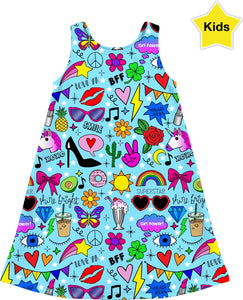 Glam Girl Kids Dress - Sequins 'n Seashells Boutique