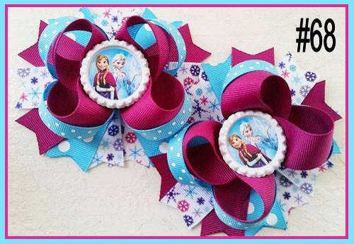 CHARACTER BOTTLE CAP HAIR BOWS - #68 - Sequins 'n Seashells Boutique