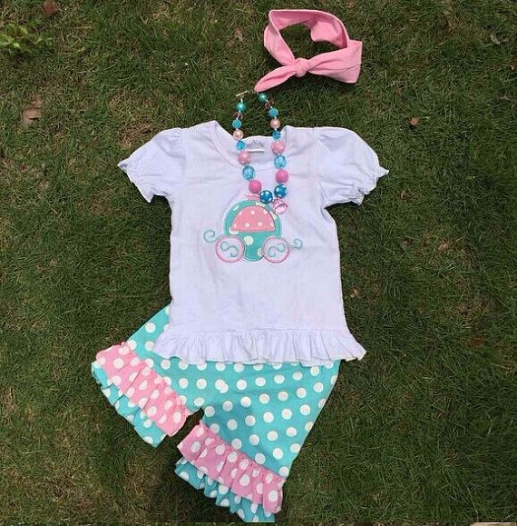PRINCESS CARRIAGE GIRLS OUTFIT
