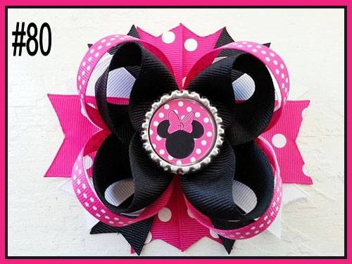 CHARACTER BOTTLE CAP HAIR BOWS - #80 - Sequins 'n Seashells Boutique